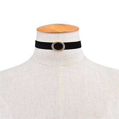 Pentru femei Șuviță unică Geometric Shape Γεωμετρικά De Bază Euramerican stil minimalist Coliere Choker Bijuterii Material Textil Aliaj