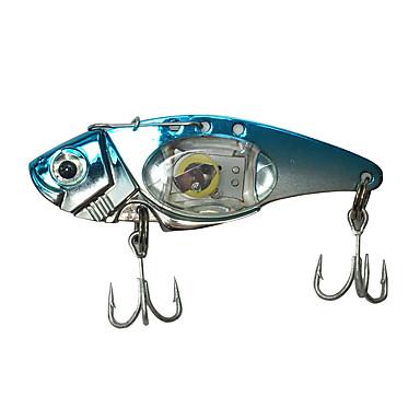 1 جهاز كمبيوتر شخصى طعم صيد جامد طعم معدن خدع الصيد التصيد إغراء طعم معدن طعم صيد جامد معدن LED طعم الاسماك إغراء الصيد