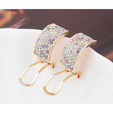 Kadın's Vidali Küpeler Kristal Eşsiz Tasarım Kişiselleştirilmiş Euramerican kostüm takısı Mücevher Uyumluluk Düğün Parti Doğumgünü