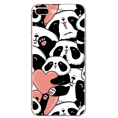 Kılıf Na Apple iPhone 7 Plus iPhone 7 Przezroczyste Wzór Czarne etui Panda Rysunek Miękkie TPU na iPhone 7 Plus iPhone 7 iPhone 6s Plus
