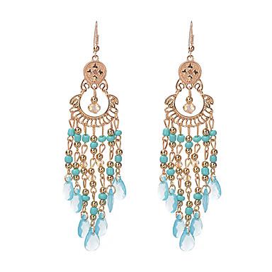 Damla Küpeler Mücevher Eşsiz Tasarım Bohemia Stili Reçine alaşım Damla Beyaz Siyah Sıcak Pembe Mavi Gökküşağı Mücevher IçinParti Özel