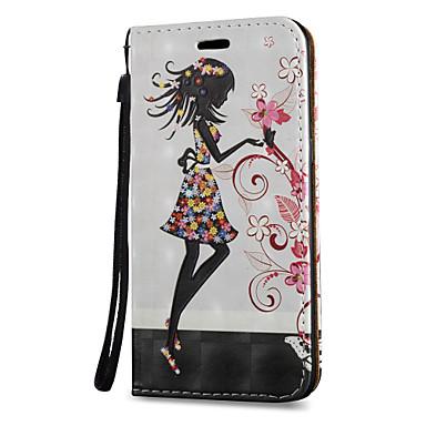 voordelige Galaxy S-serie hoesjes / covers-hoesje Voor Samsung Galaxy S8 Plus / S8 / S7 edge Kaarthouder / met standaard / Flip Volledig hoesje Sexy dame Hard PU-nahka