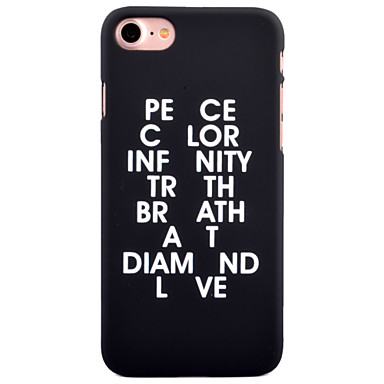 Için Temalı Pouzdro Arka Kılıf Pouzdro Kelime / Cümle Sert PC için AppleiPhone 7 Plus iPhone 7 iPhone 6s Plus iPhone 6 Plus iPhone 6s