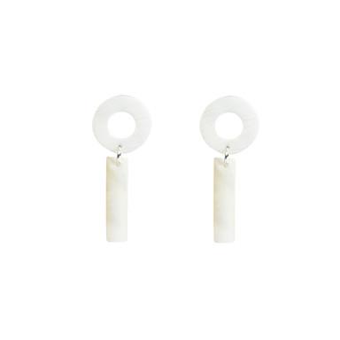 Kolczyki wiszące Biżuteria Modny Osobiste euroamerykańskiej Porcelanka Biżuteria White Biżuteria Na Impreza Codzienny Casual 1 para