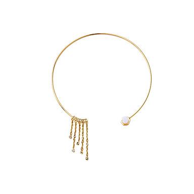Kadın's Tellerinin Kolye Kristal Circle Shape Püsküller Kişiselleştirilmiş Euramerican Altın/Gümüş Mücevher Için Düğün 1pc