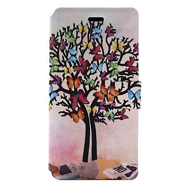Για Θήκη καρτών με βάση στήριξης Ανοιγόμενη Με σχέδια tok Πλήρης κάλυψη tok Δέντρο Σκληρή Συνθετικό δέρμα για HuaweiHuawei P9 Lite Huawei
