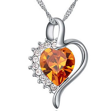 Kadın's Uçlu Kolyeler Mücevher Heart Shape sevimli Stil Mücevher Uyumluluk Özel Anlar
