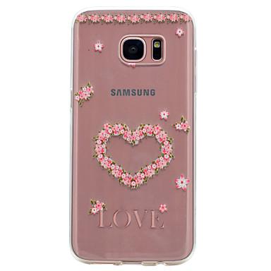 Etui Käyttötarkoitus Samsung Galaxy S8 S7 edge Läpinäkyvä Kuvio Takakuori Sydän Pehmeä TPU varten S8 S7 edge S7 S6 edge S6 S5 Mini S5