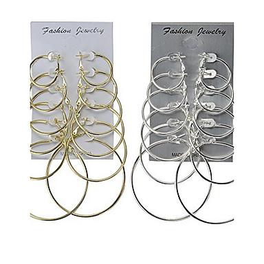 Pentru femei Cercei Rotunzi Bijuterii Clasic De Bază Multi-moduri Wear Aliaj Rotund Bijuterii Nuntă Petrecere Ocazie specială Aniversare