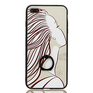 tok Για iPhone 7 Plus iPhone 7 Apple Βάση δαχτυλιδιών Με σχέδια Πίσω Κάλυμμα Σέξι κυρία Σκληρή PC για iPhone 7 Plus iPhone 7