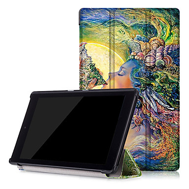 tok Για Amazon Πλήρης Θήκη Θήκες για Tablets Σκληρή PU δέρμα για