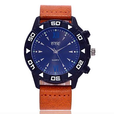 Męskie Modny Zegarek na nadgarstek Kwarcowy PU Pasmo Nowoczesne Na co dzień Czarny Niebieski Brązowy