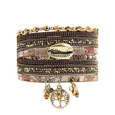 Bransoletki ze skóry Przyjaźń Modny Bohemia Style luksusowa biżuteria Kryształ Skórzany Kryształ górski Imitacja diamentu Stop Usta