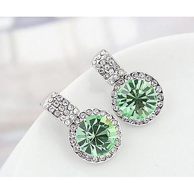 Damskie Kolczyki na sztyft Kryształ Spersonalizowane Okragły euroamerykańskiej Biżuteria Na Ślub Impreza Urodziny