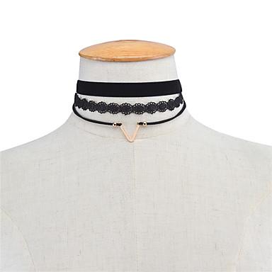 Pentru femei Geometric Shape Personalizat Γεωμετρικά Modă Euramerican Coliere Choker Bijuterii Dantelă Aliaj Coliere Choker . Petrecere