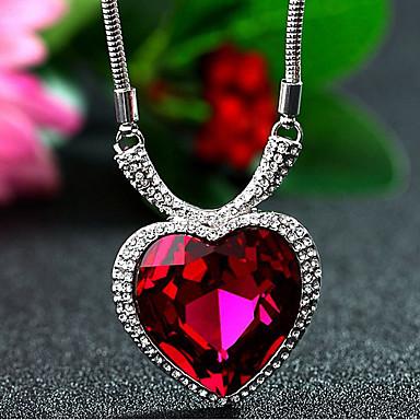 للمرأة قلائد الحلي كريستال Heart Shape كروم كلاسيكي أساسي مجوهرات من أجل تهاني شكرا لك