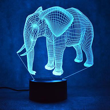 fil dokunmatik karartmalı 3d gece aydınlatması yol 7colorful dekorasyon atmosfer lamba yenilik aydınlatma ışık