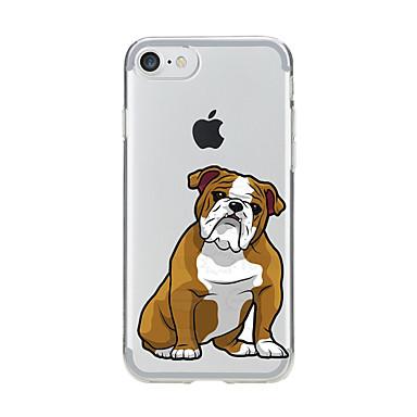 Pentru Transparent Model Maska Carcasă Spate Maska Câțel Moale TPU pentru AppleiPhone 7 Plus iPhone 7 iPhone 6s Plus iPhone 6 Plus iPhone