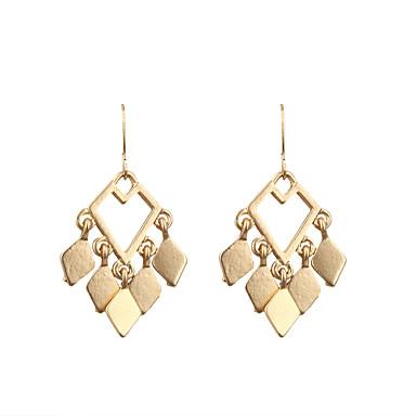 أقراط قطرة موضة euramerican في سبيكة Geometric Shape ذهبي مجوهرات إلى زفاف حزب الهالووين يوميا فضفاض الرياضة 1 زوج
