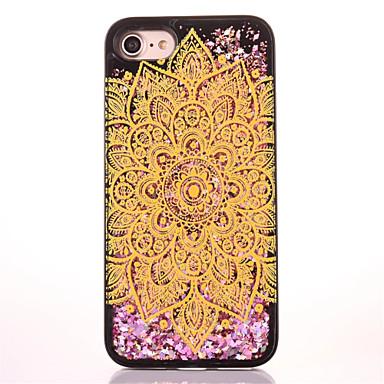 Για Στρας Ρέον υγρό Με σχέδια tok Πίσω Κάλυμμα tok Λάμψη γκλίτερ Σκληρή PC για AppleiPhone 7 Plus iPhone 7 iPhone 6s Plus iPhone 6 Plus