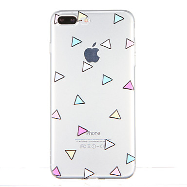 Için Şeffaf Temalı Pouzdro Arka Kılıf Pouzdro Geometrik Desenli Yumuşak TPU için AppleiPhone 7 Plus iPhone 7 iPhone 6s Plus iPhone 6 Plus