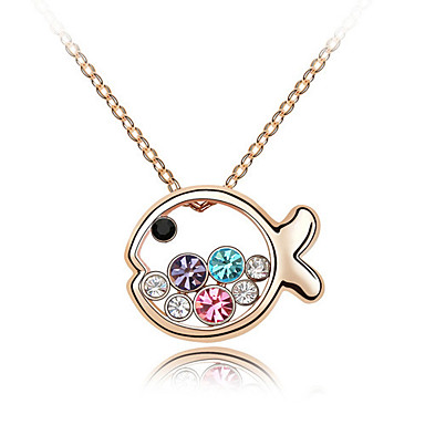 Damskie Naszyjniki z wisiorkami Kryształ Animal Shape Spersonalizowane Słodkie Style Biżuteria Na Ślub