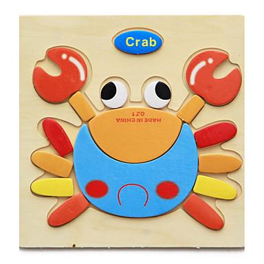 Carduri Educaționale Puzzle Puzzle Lemn Pegged puzzle-uri Jucării Educaționale Jucarii Animale Reparații de Copil Pentru copii 1 Bucăți