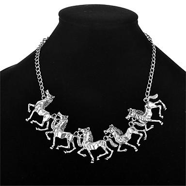 Damskie Zwierzę Modny euroamerykańskiej Oświadczenie Naszyjniki Biżuteria Posrebrzany Pozłacane Stop Oświadczenie Naszyjniki , Ślub