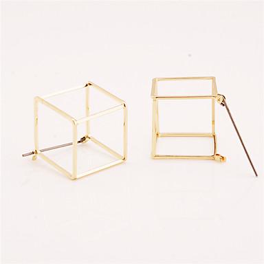 Pentru femei Cercei Stud - Personalizat / Γεωμετρικά / Euramerican Auriu / Negru / Argintiu Geometric Shape cercei Pentru Zilnic / Casual