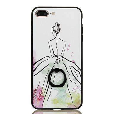 Για Βάση δαχτυλιδιών Με σχέδια tok Πίσω Κάλυμμα tok Σέξι κυρία Σκληρή PC για Apple iPhone 7 Plus iPhone 7