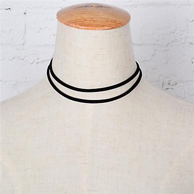 Naisten Muuta Kaksoiskerros Muoti Euramerican minimalistisesta Eurooppalainen Choker-kaulakorut Korut Metalliseos Choker-kaulakorut ,
