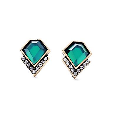 Vidali Küpeler Kristal Moda Kişiselleştirilmiş Euramerican minimalist tarzı Yeşil Mücevher Için Düğün Parti Doğumgünü 1 çift