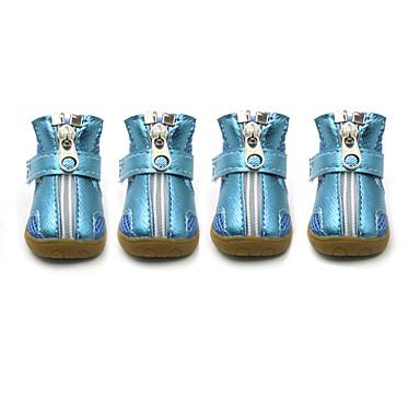 Köpek Ayakkabılar ve Botlar Moda Sporlar Tek Renk Gümüş Turuncu Fuşya Yeşil Mavi Evcil hayvanlar için