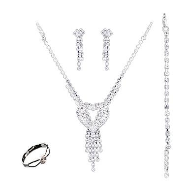 Pentru femei Set bijuterii - Modă, Euramerican Include Alb Pentru Nuntă / Petrecere / Zilnic / Inele
