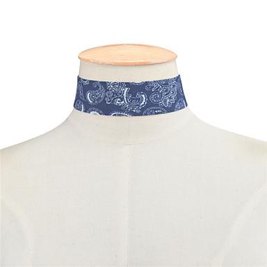 billige Mode Halskæde-Dame Enlig Snor Kort halskæde Damer Basale minimalistisk stil Mode Mørkeblå Lyseblå Halskæder Smykker Til Daglig Afslappet