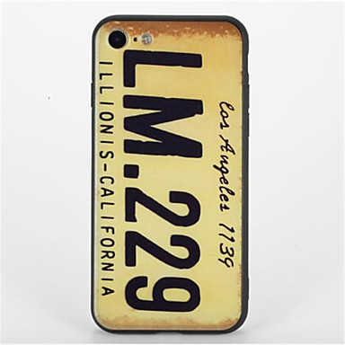 Varten Kuvio Etui Takakuori Etui Sana / lause Kova PC varten Apple iPhone 7 Plus iPhone 7 iPhone 6s Plus iPhone 6 Plus iPhone 6s iPhone 6
