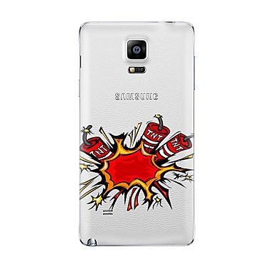 Na Przezroczyste Wzór Kılıf Etui na tył Kılıf Kreskówka Miękkie TPU na Samsung Note 5 Note 4 Note 3 Note 2