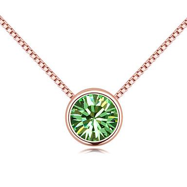 Γυναικεία Κρεμαστά Κολιέ Κρυστάλλινο Round Shape Βασικό Βρετανικό Κοσμήματα Για