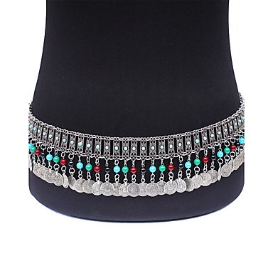 للمرأة سلسلة بطن سبيكة قديم بوهيميان موضة مجوهرات الجسم  من أجل مناسبة خاصة فضفاض مجوهرات