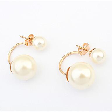 Cercei Stud Perle Imitație de Perle Aliaj Alb Bijuterii Pentru Petrecere Casual 1 pereche