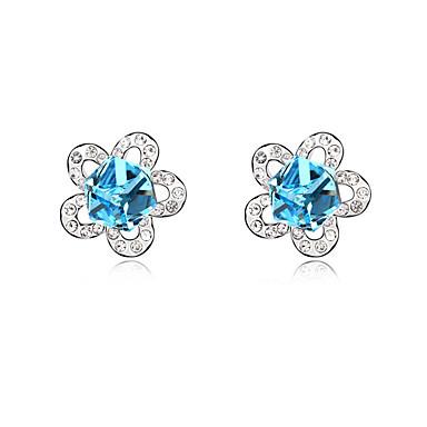 Kadın's Vidali Küpeler Kristal Kişiselleştirilmiş Çiçek Çiçek Stili Çiçekler Euramerican Çiçek Mücevher Düğün Parti Doğumgünü