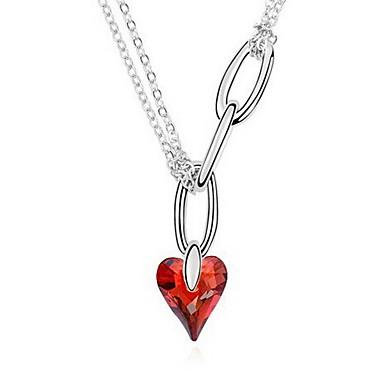 Naisten Heart Uniikki Riipus-kaulakorut Kristalli Riipus-kaulakorut ,