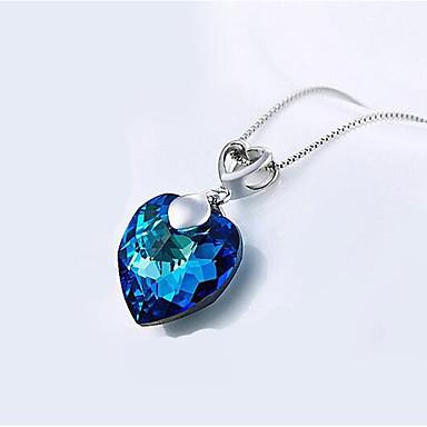 Γυναικεία Καρδιά Σχήμα Euramerican Κολιέ με Αλυσίδα Κοσμήματα Χρώμιο Κολιέ με Αλυσίδα Δώρο Καθημερινά Causal