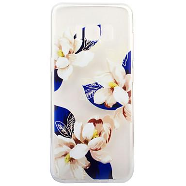 Pouzdro Uyumluluk Samsung Galaxy S8 Plus S8 Şeffaf Temalı Arka Kapak Çiçek Yumuşak TPU için S8 Plus S8