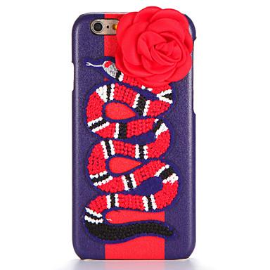 Kılıf Na Apple iPhone 7 Plus iPhone 7 DIY Czarne etui Kwiaty Zwierzę Twarde Skóra PU na iPhone 7 Plus iPhone 7 iPhone 6s Plus iPhone 6s
