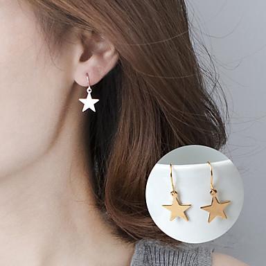 Naisten Pisarakorvakorut Korut Yksinkertainen söpö tyyli Metalliseos Star Shape Geometric Shape Korut Käyttötarkoitus Party Päivittäin