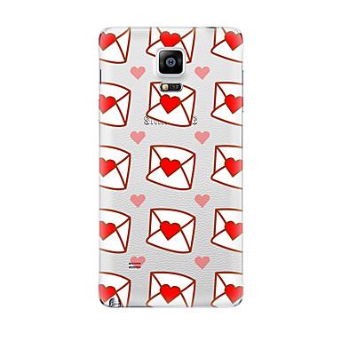 Için Şeffaf Temalı Pouzdro Arka Kılıf Pouzdro Kalp Yumuşak TPU için Samsung Note 5 Note 4 Note 3 Note 2