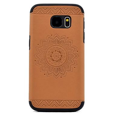 Etui Käyttötarkoitus Samsung Galaxy S8 Plus S8 Koristeltu Kuvio Takakuori Mandala Kova PU-nahka varten S8 S8 Plus S7 edge S7