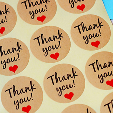 10sheet / 120pcs papier pakowy dziękuję tagów prezent ślubny sprzyja akcesoria wigilii DIY konopie rocznika ślub wesele dekoracja