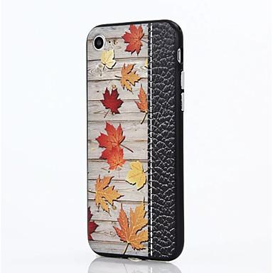 Için Şoka Dayanıklı Pouzdro Arka Kılıf Pouzdro Ağaç Sert PC için AppleiPhone 7 Plus iPhone 7 iPhone 6s Plus iPhone 6 Plus iPhone 6s
